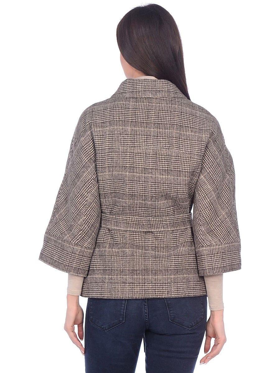 Женское демисезонное пальто hr-017 бежевого цвета
