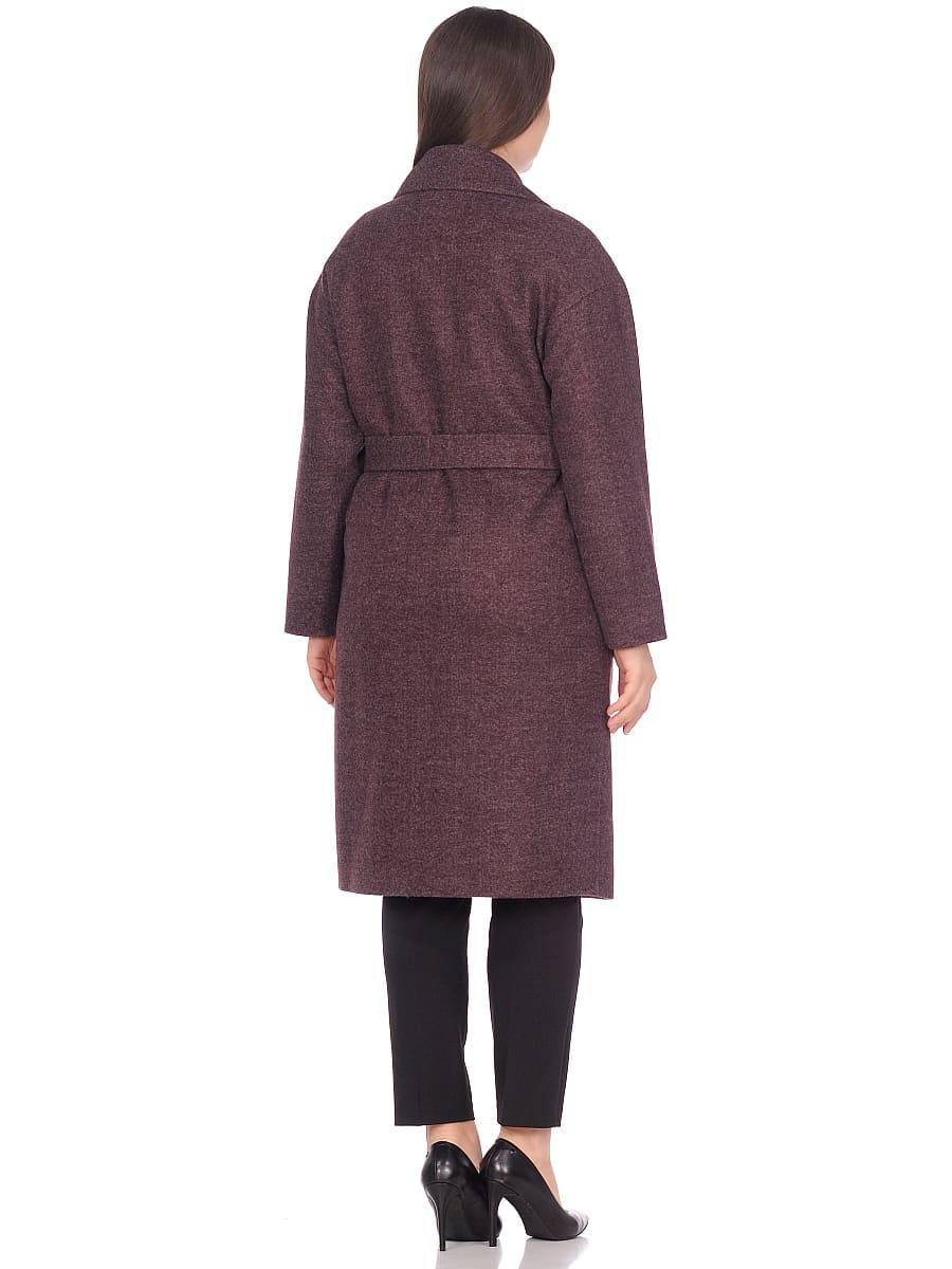 Женское демисезонное пальто hr-002 сливовое фото-3