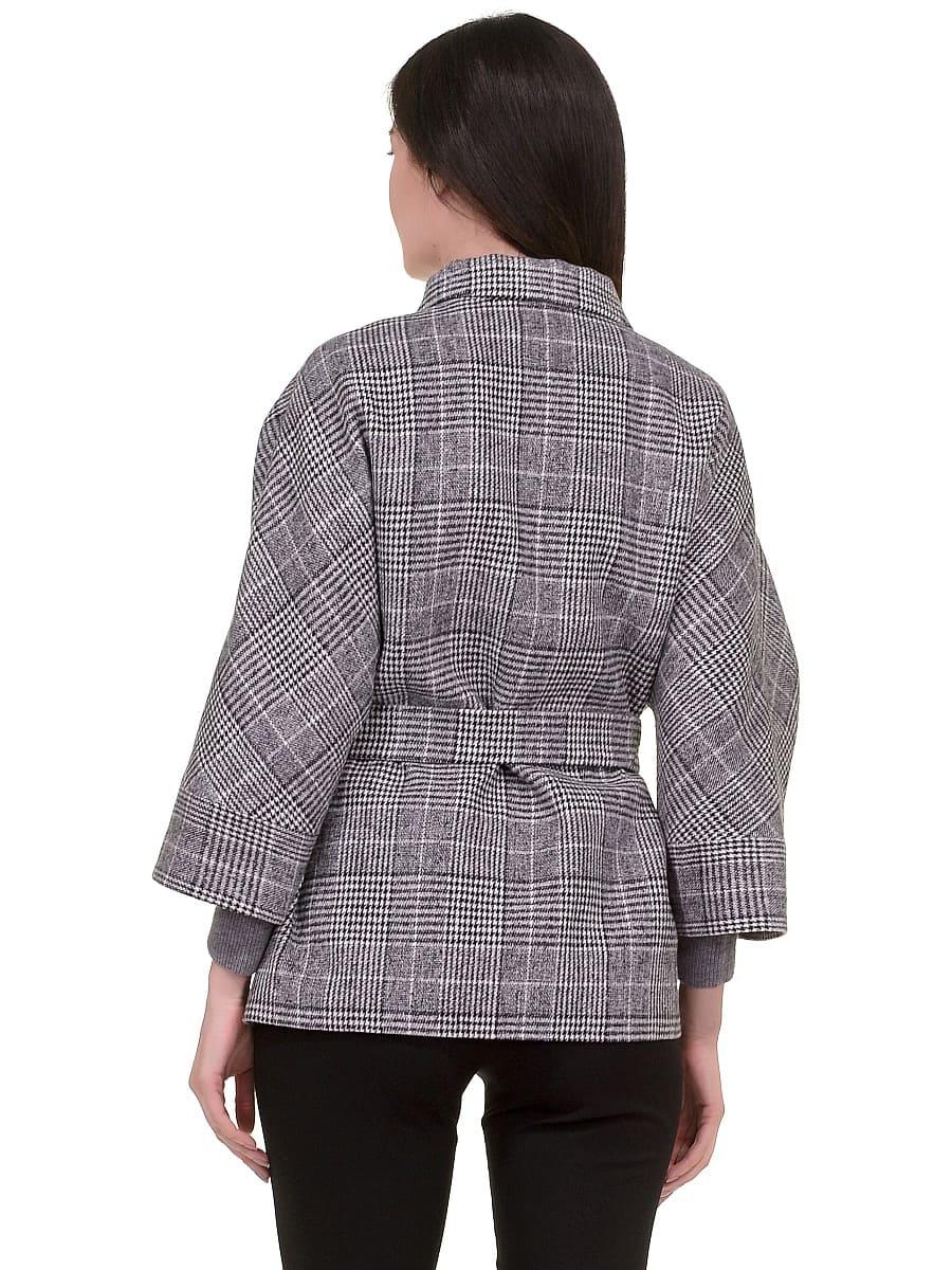 Женское демисезонное пальто hr-017 серое фото-3