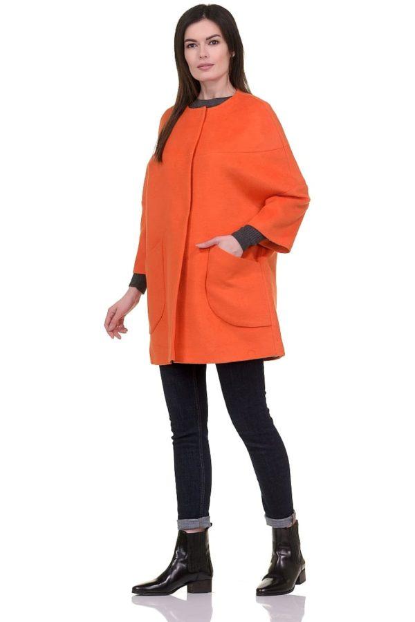 Женское-демисезонное-пальто-hr-019-оранжевое-фото-1