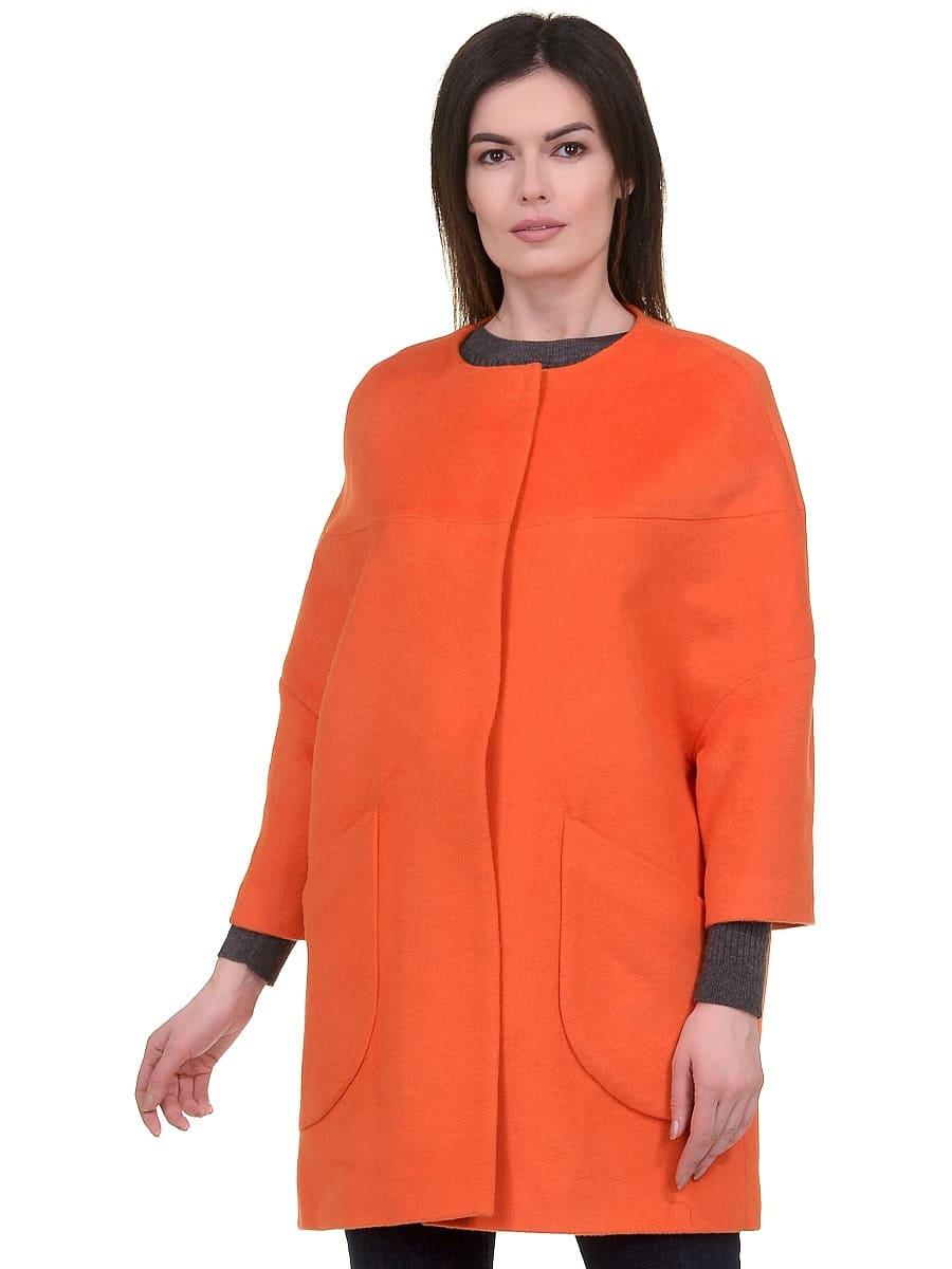 Женское-демисезонное-пальто-hr-019-оранжевое-фото-2