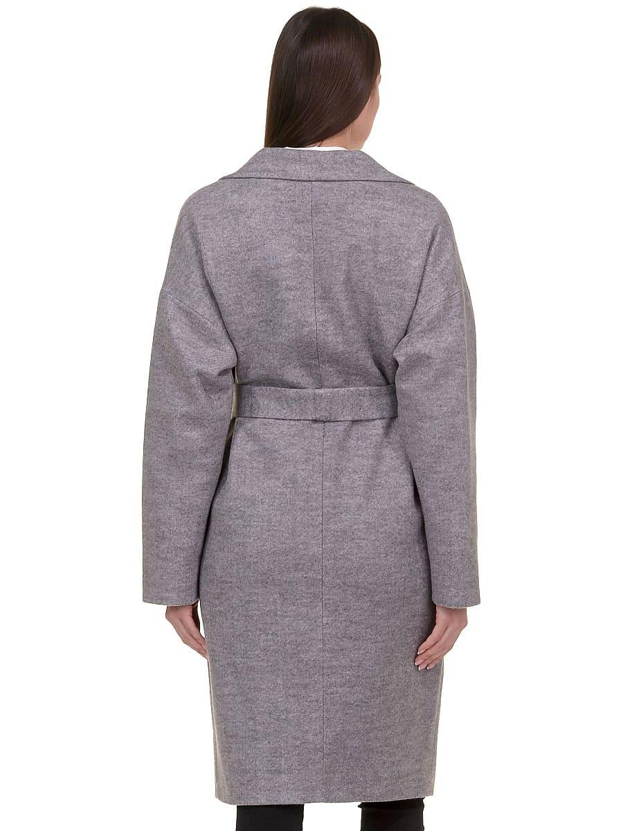 Женское демисезонное пальто hr-001b серое фото-3