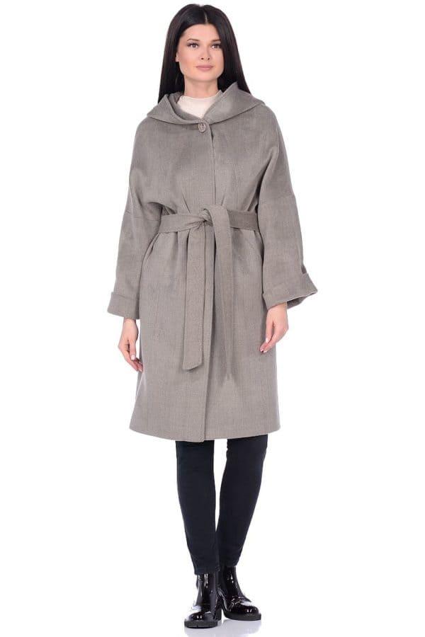Женское демисезонное пальто hr-011 светло-оливковое фото-1