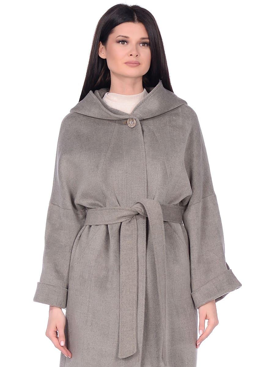 Женское демисезонное пальто hr-011 светло-оливковое фото-2