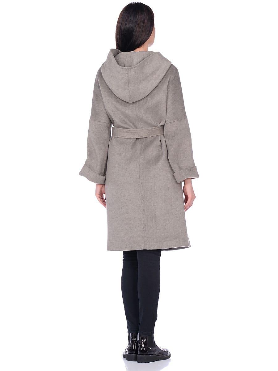 Женское демисезонное пальто hr-011 светло-оливковое фото-3