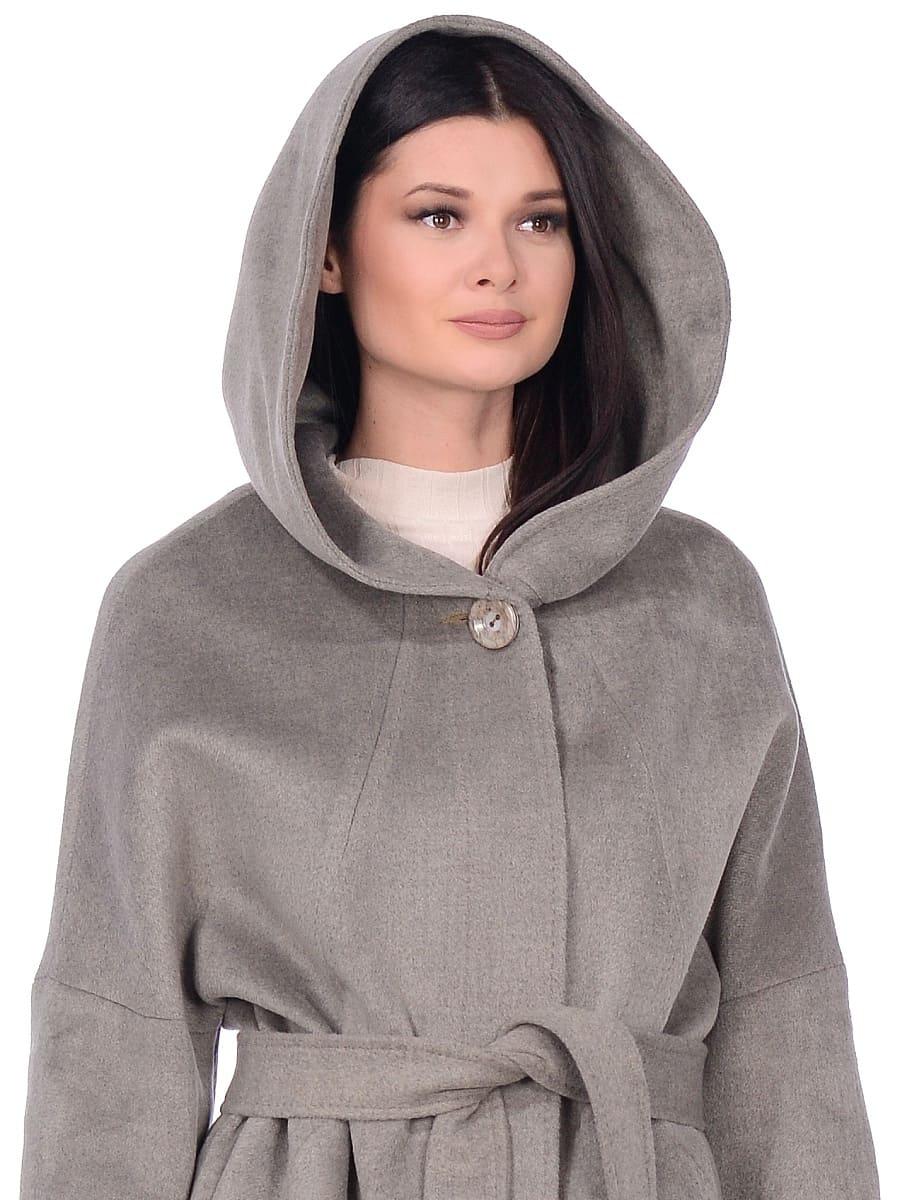 Женское демисезонное пальто hr-011 светло-оливковое фото-4