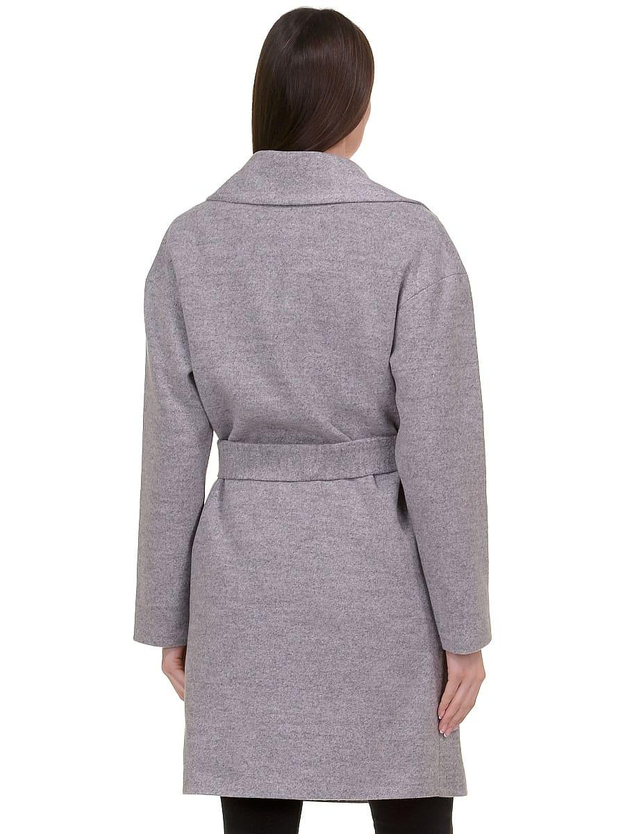 Женское демисезонное пальто hr-020 светло-серое фото-3
