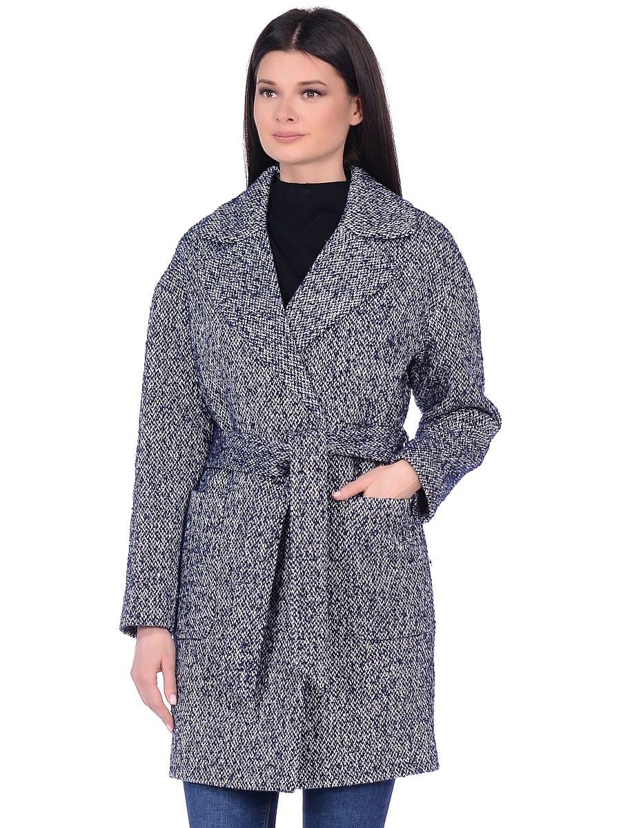 Женское демисезонное пальто hr-020a синее фото-2