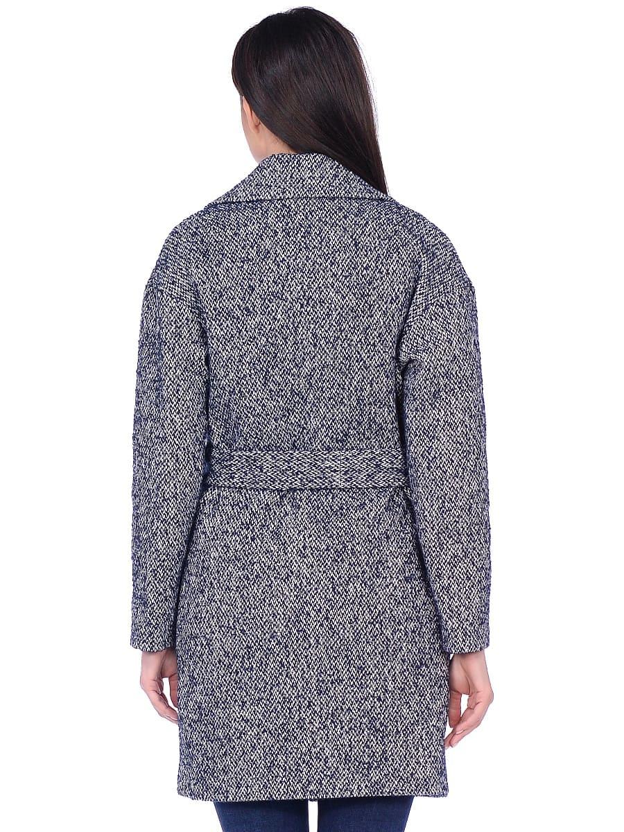 Женское демисезонное пальто hr-020a синее фото-3