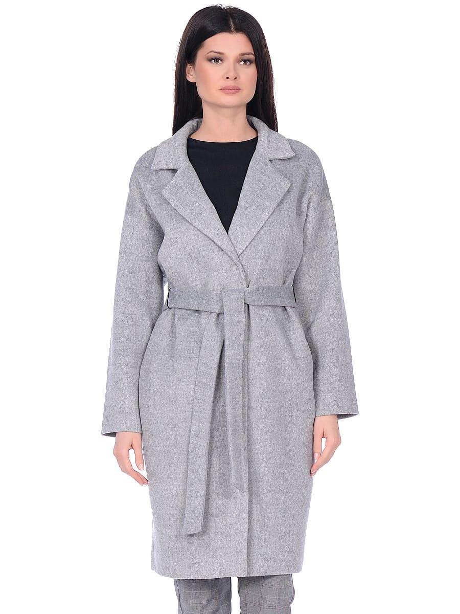 Женское демисезонное пальто hr-001a серое фото-2