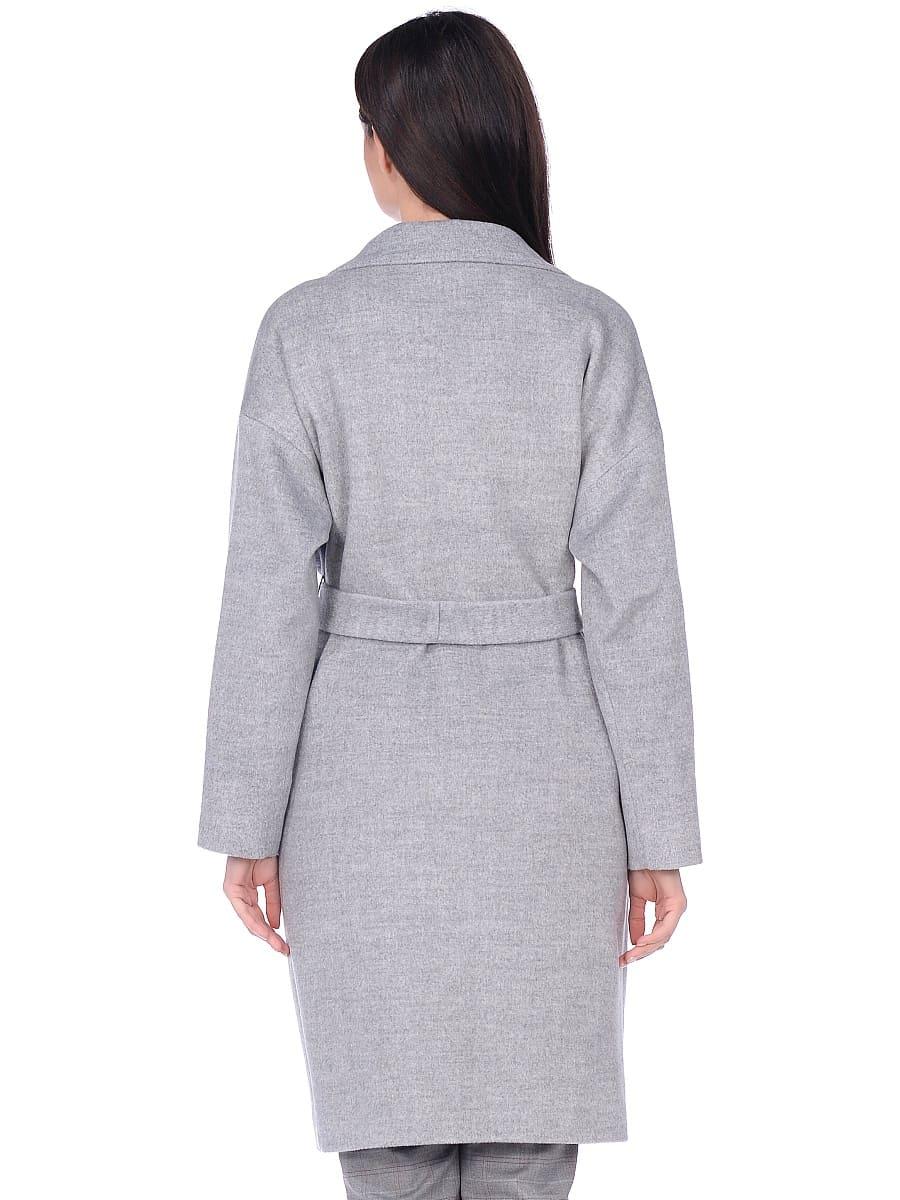 Женское демисезонное пальто hr-001a серое фото-3