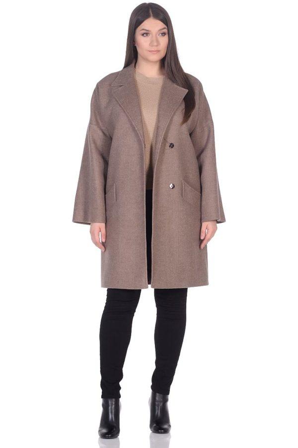 Женское демисезонное пальто hr-003 бежевое фото-1