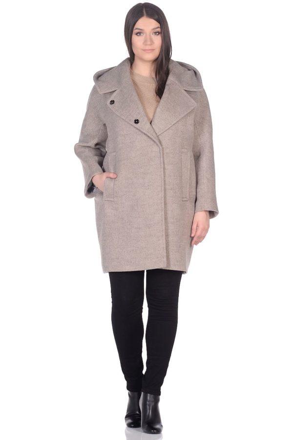 Женское демисезонное пальто hr-004 бежевое фото-1