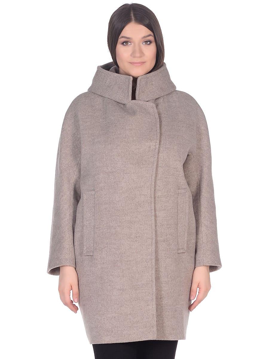 Женское демисезонное пальто hr-004 бежевое фото-2