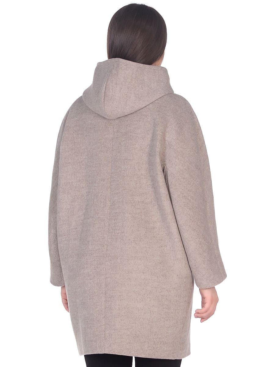 Женское демисезонное пальто hr-004 бежевое фото-3