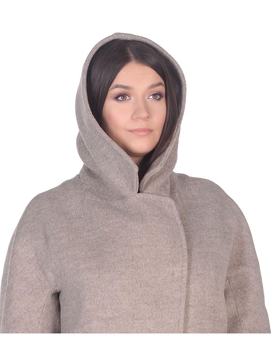 Женское демисезонное пальто hr-004 бежевое фото-4