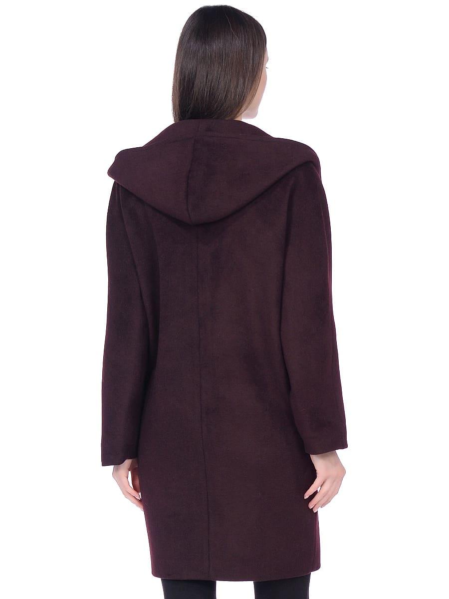 Женское демисезонное пальто hr-004 вишневое фото-3