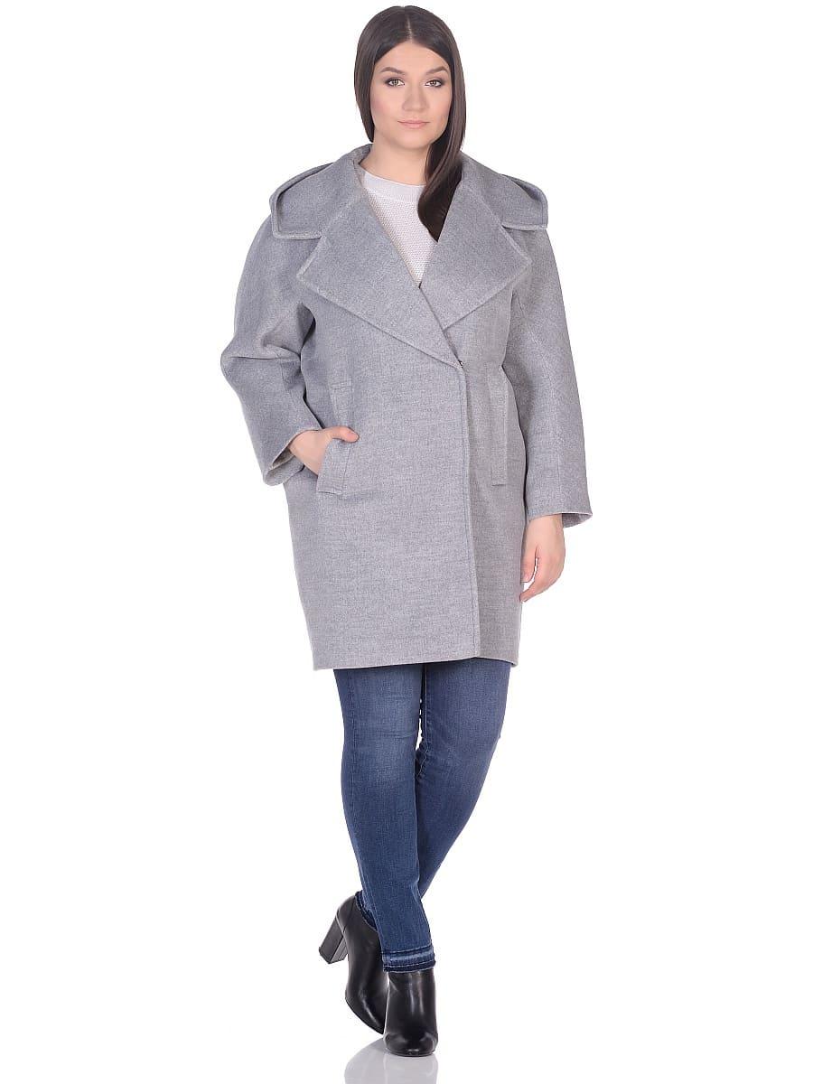 Женское демисезонное пальто hr-004 серое фото-1