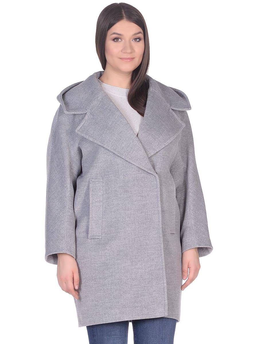 Женское демисезонное пальто hr-004 серое фото-2