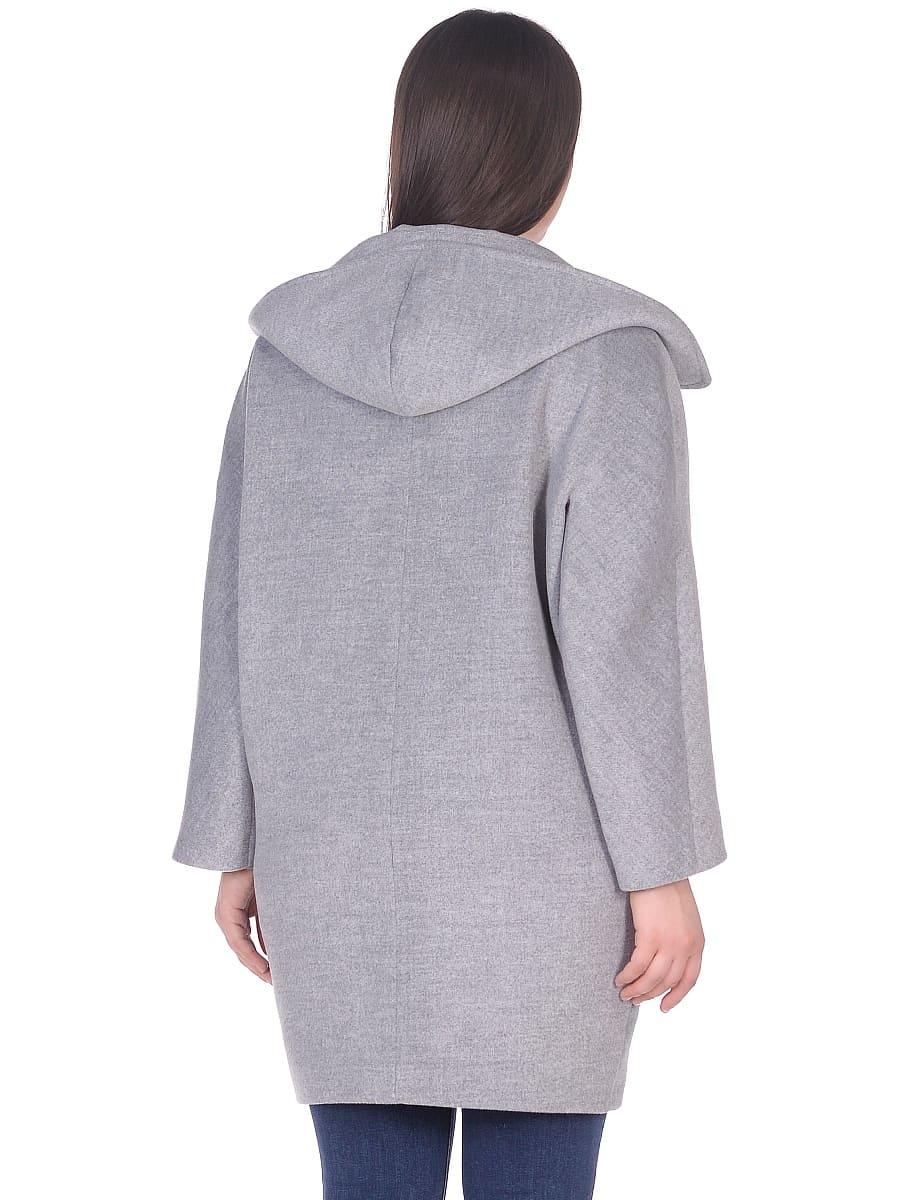 Женское демисезонное пальто hr-004 серое фото-3