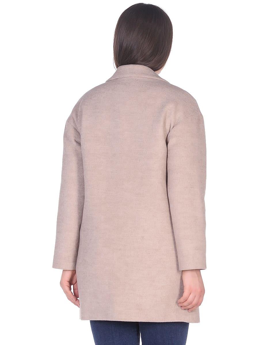 Женское демисезонное пальто hr-005 светло-бежевое фото-3