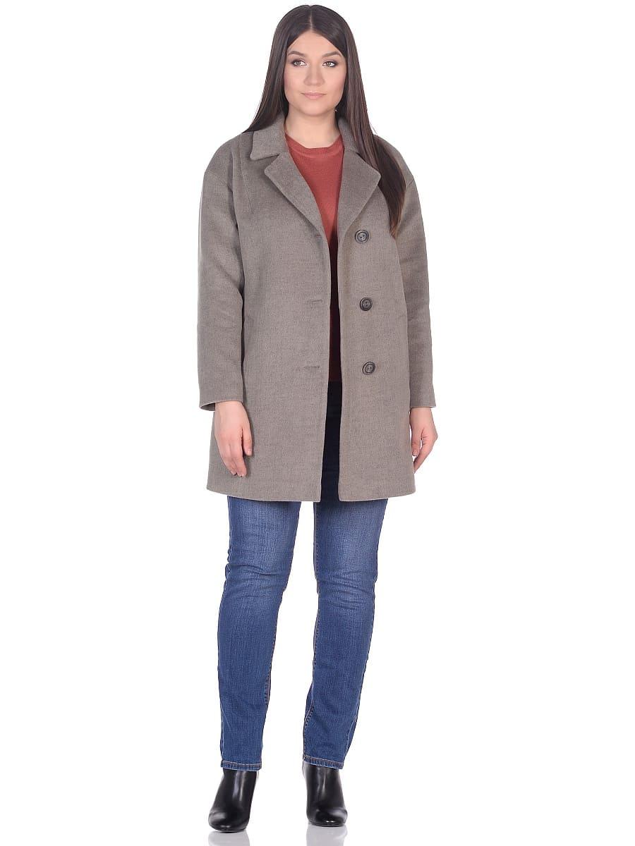 Женское демисезонное пальто-hr-005 светло-оливковое фото-1