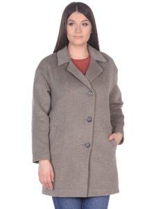 Женское демисезонное пальто-hr-005 светло-оливковое фото-2
