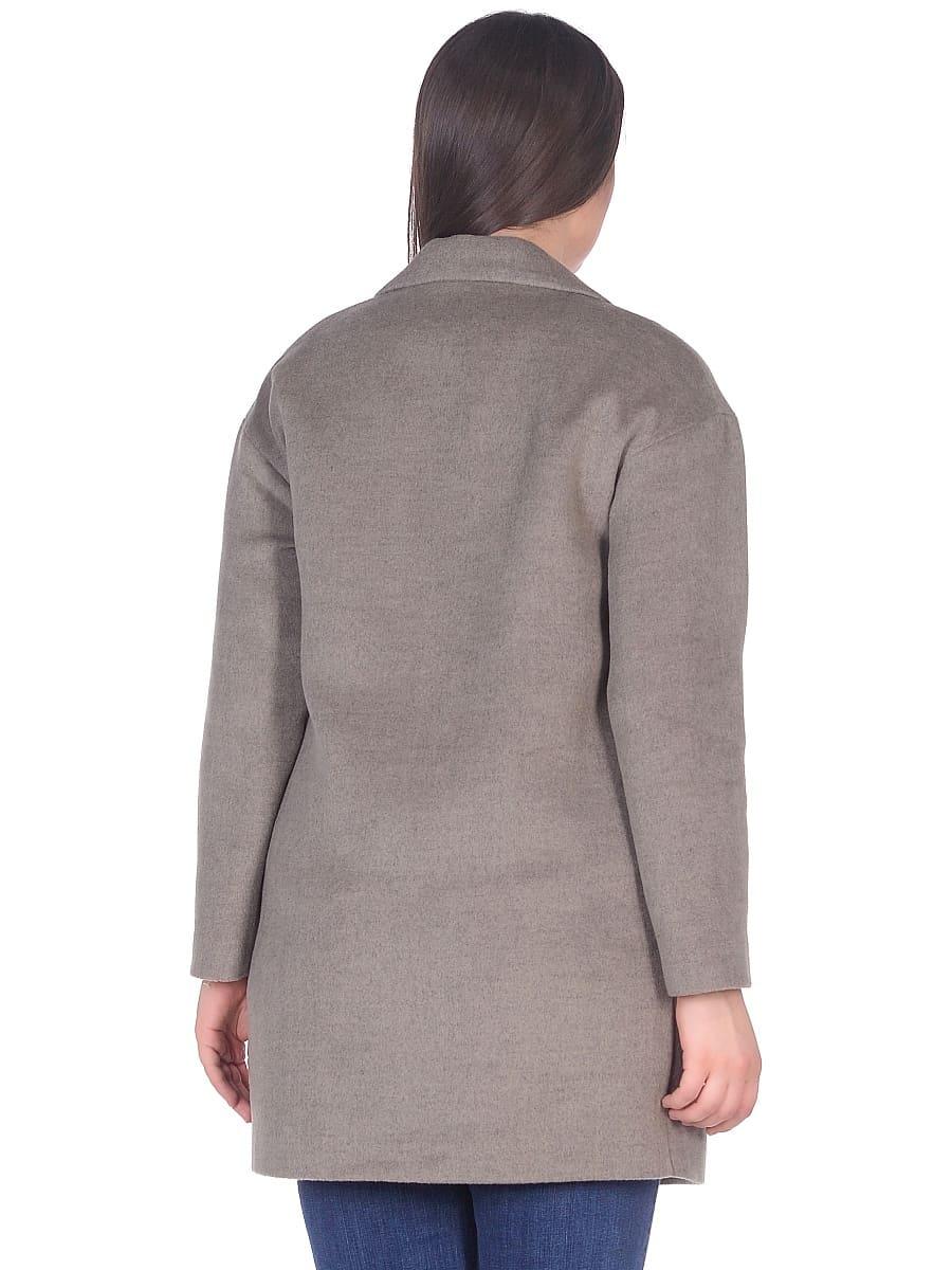Женское демисезонное пальто-hr-005 светло-оливковое фото-3