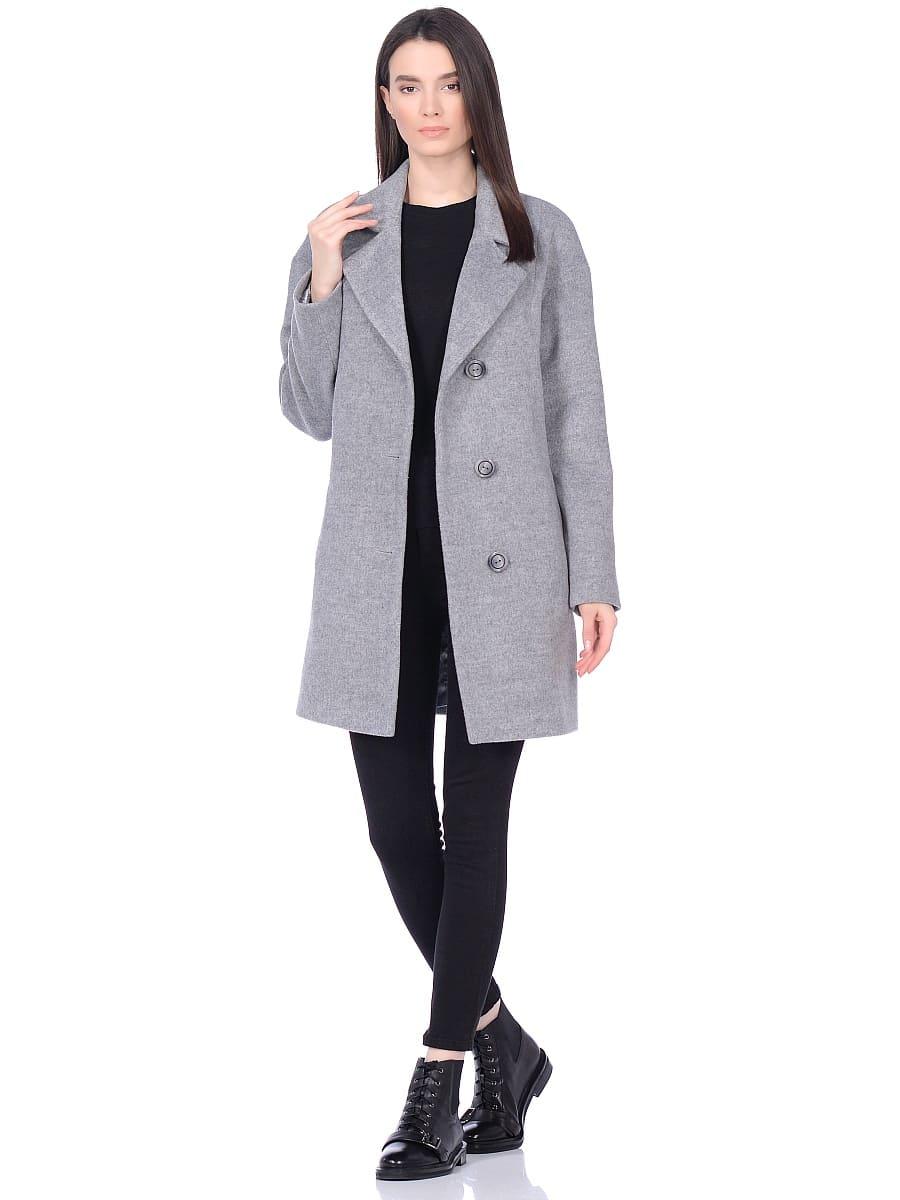 Женское демисезонное пальто hr-005 серое фото-1