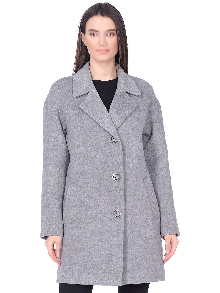 Женское демисезонное пальто hr-005 серое фото-2