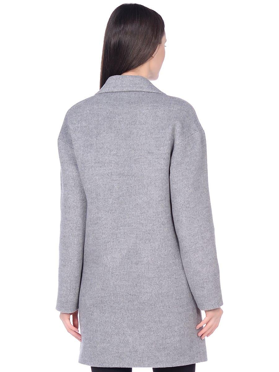 Женское демисезонное пальто hr-005 серое фото-3