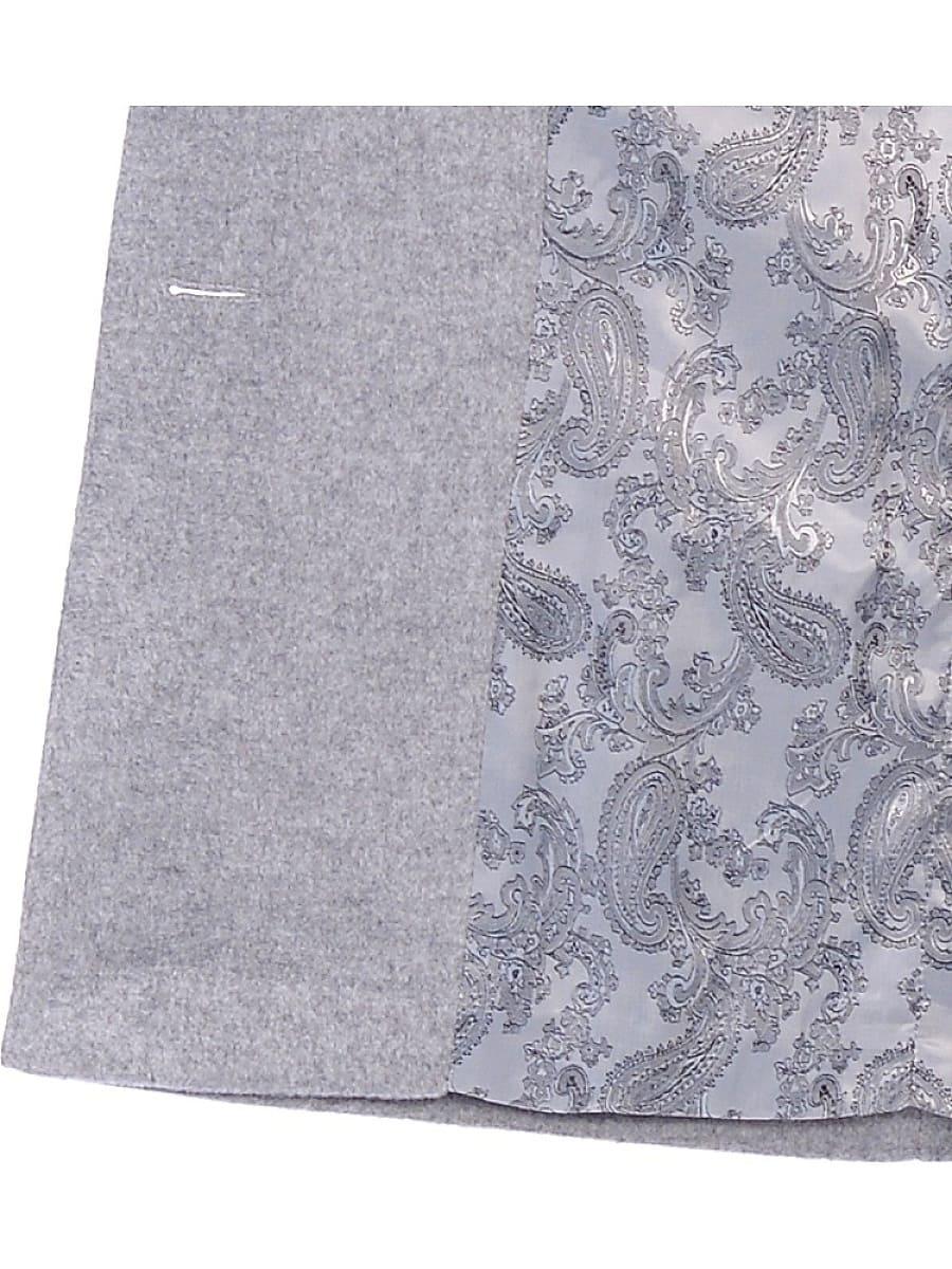 Женское демисезонное пальто hr-005 серое фото-4