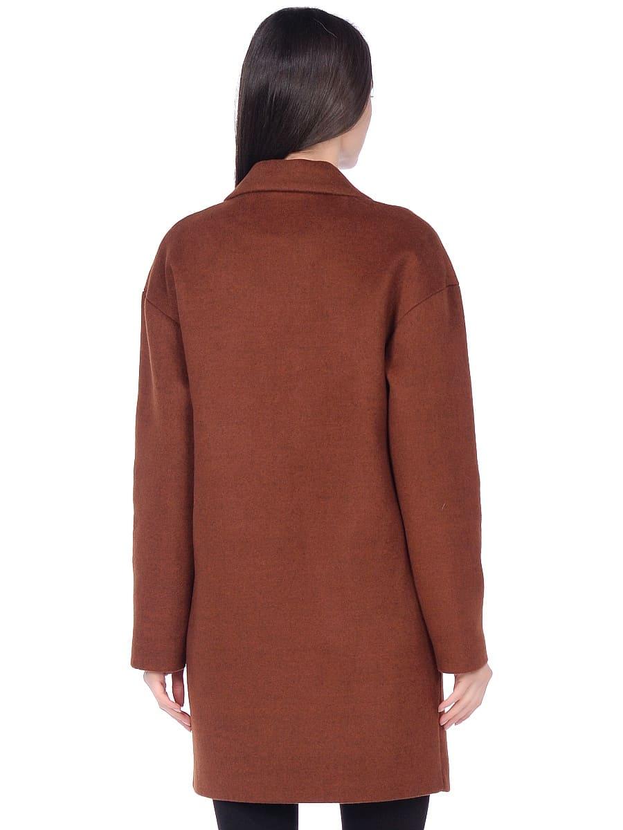 Женское демисезонное пальто hr-005 терракотовое фото-3