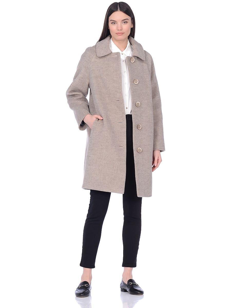 Женское демисезонное пальто hr-010 бежевое фото-1