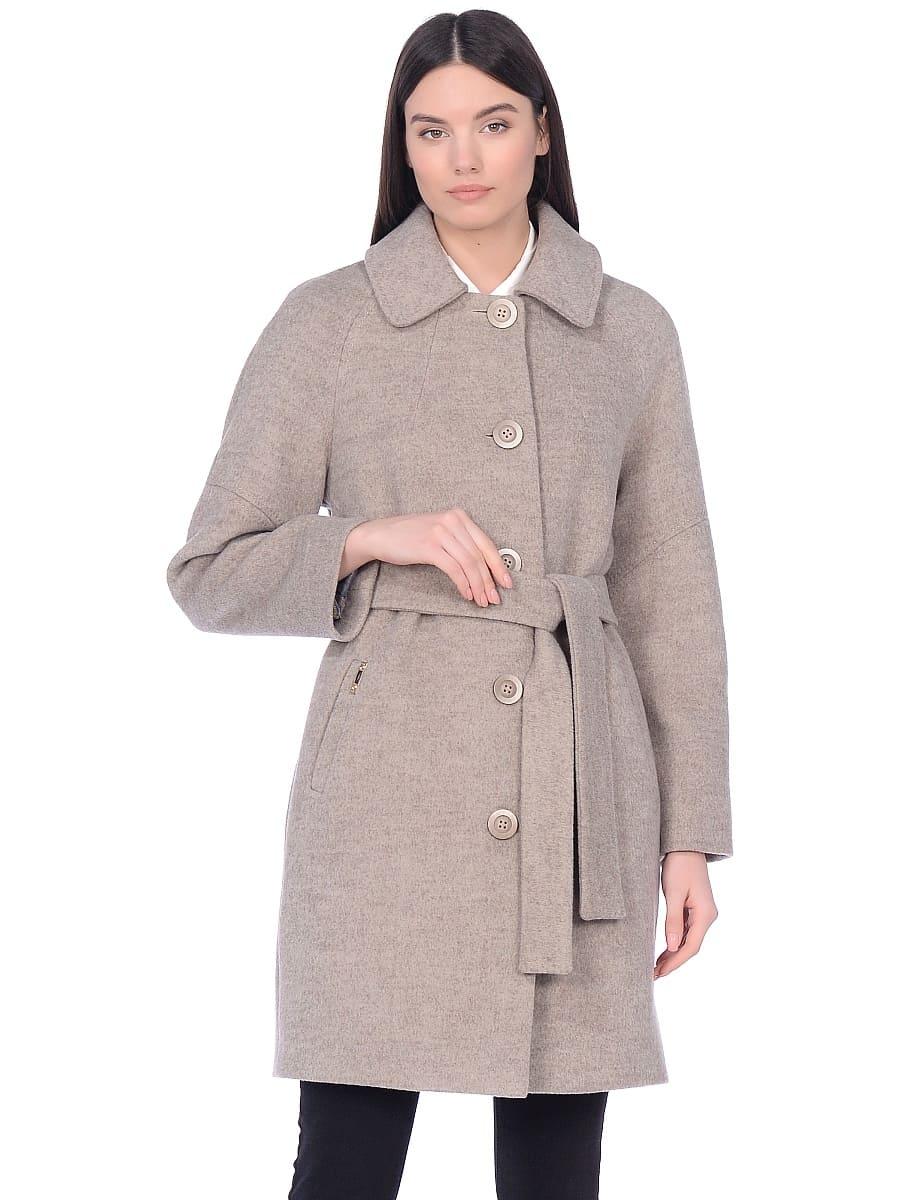 Женское демисезонное пальто hr-010 бежевое фото-2