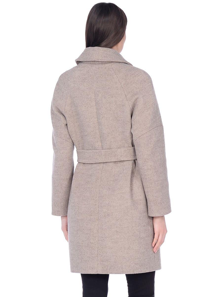 Женское демисезонное пальто hr-010 бежевое фото-3