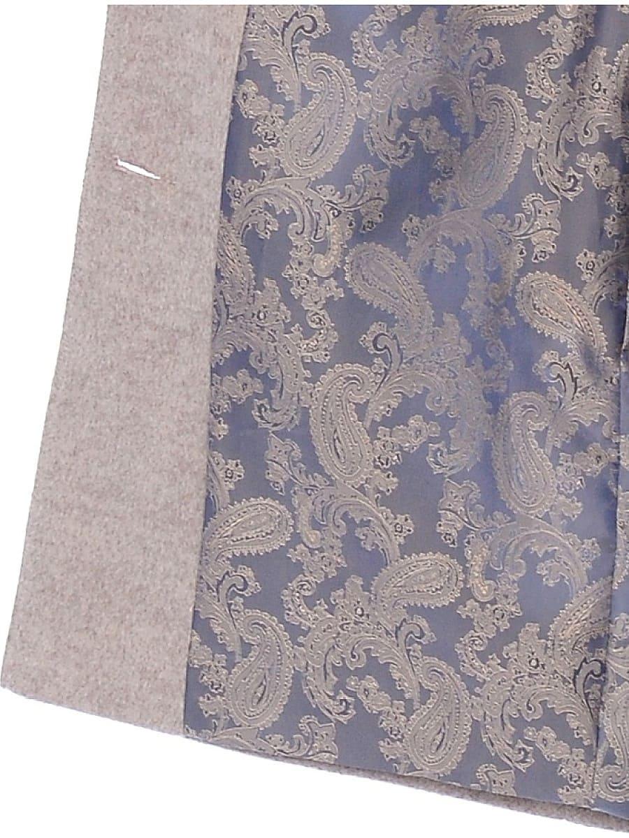 Женское демисезонное пальто hr-010 бежевое фото-4