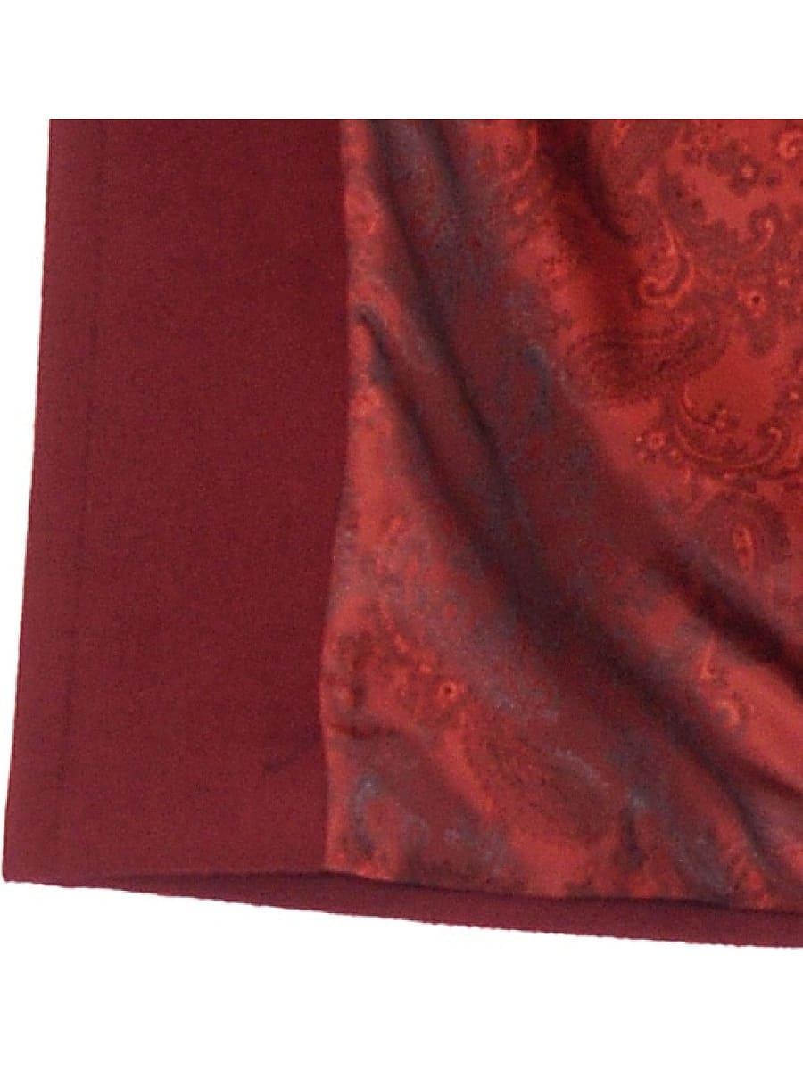 Женское демисезонное пальто hr-010 бордовое фото-4