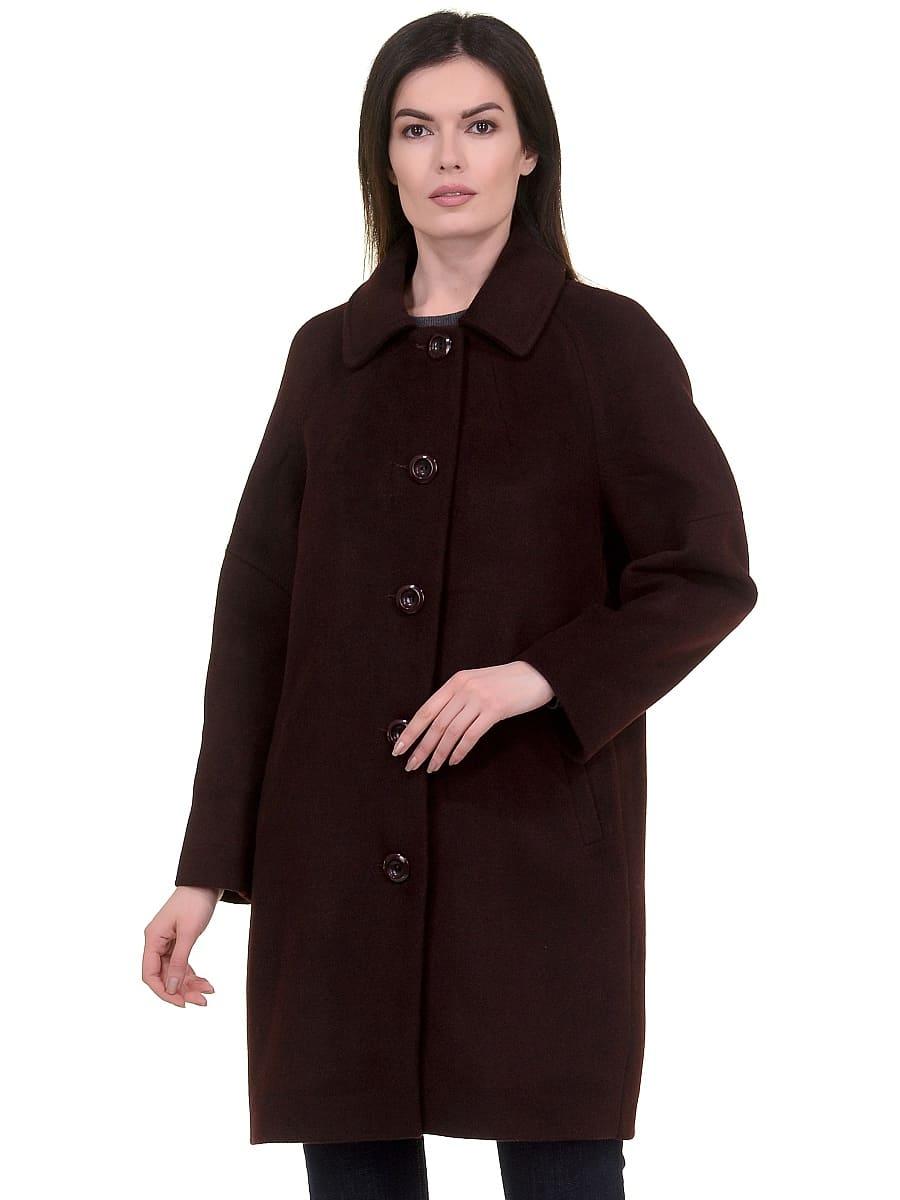 Женское демисезонное пальто hr-010 вишневое фото-2