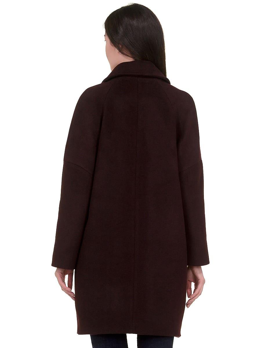 Женское демисезонное пальто hr-010 вишневое фото-3