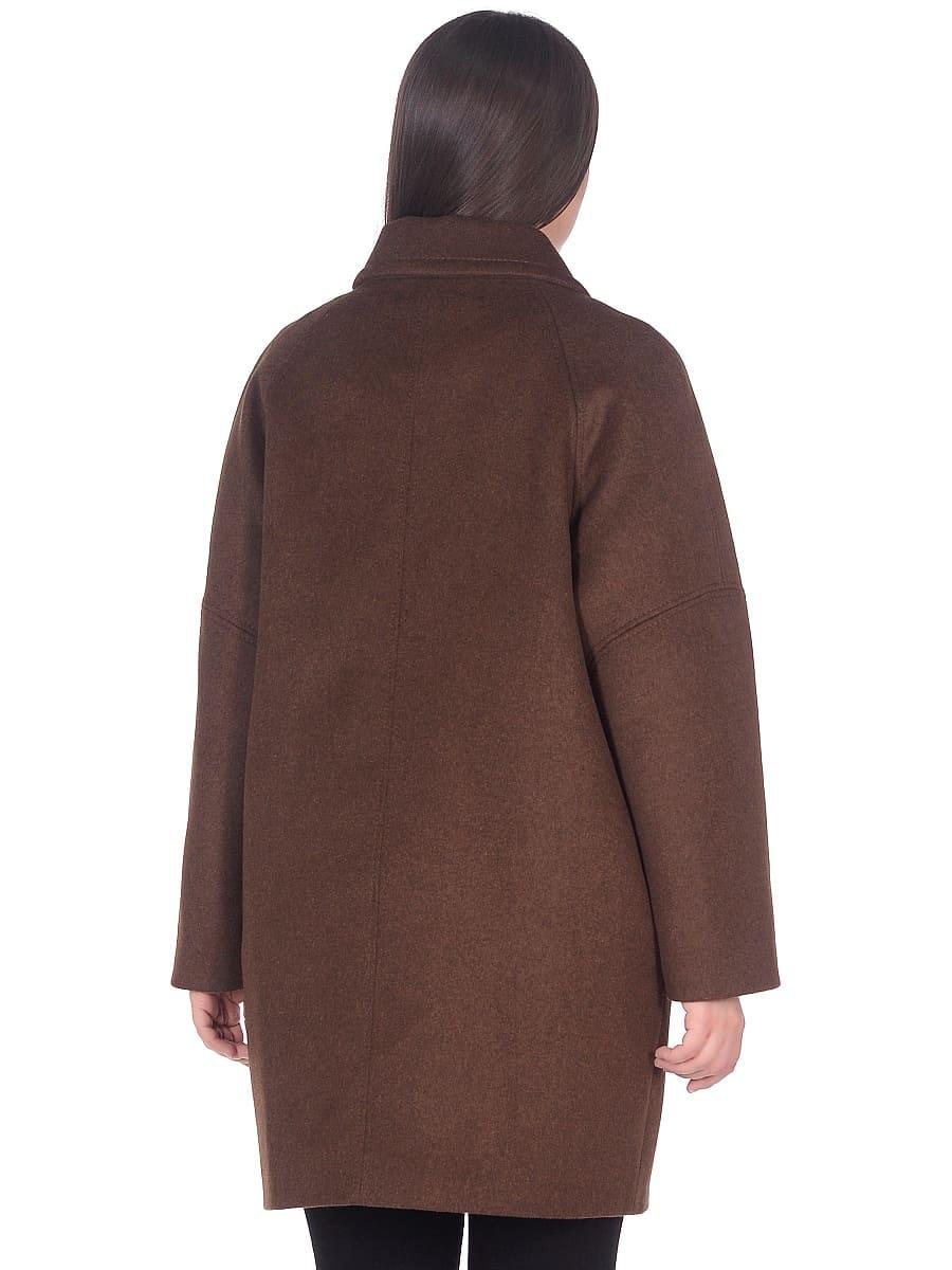 Женское демисезонное пальто hr-010 коричневое фото-3