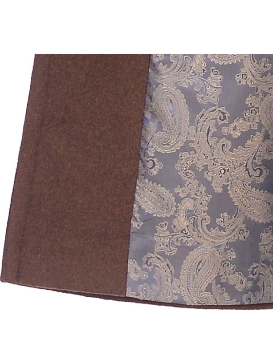 Женское демисезонное пальто hr-010 коричневое фото-4