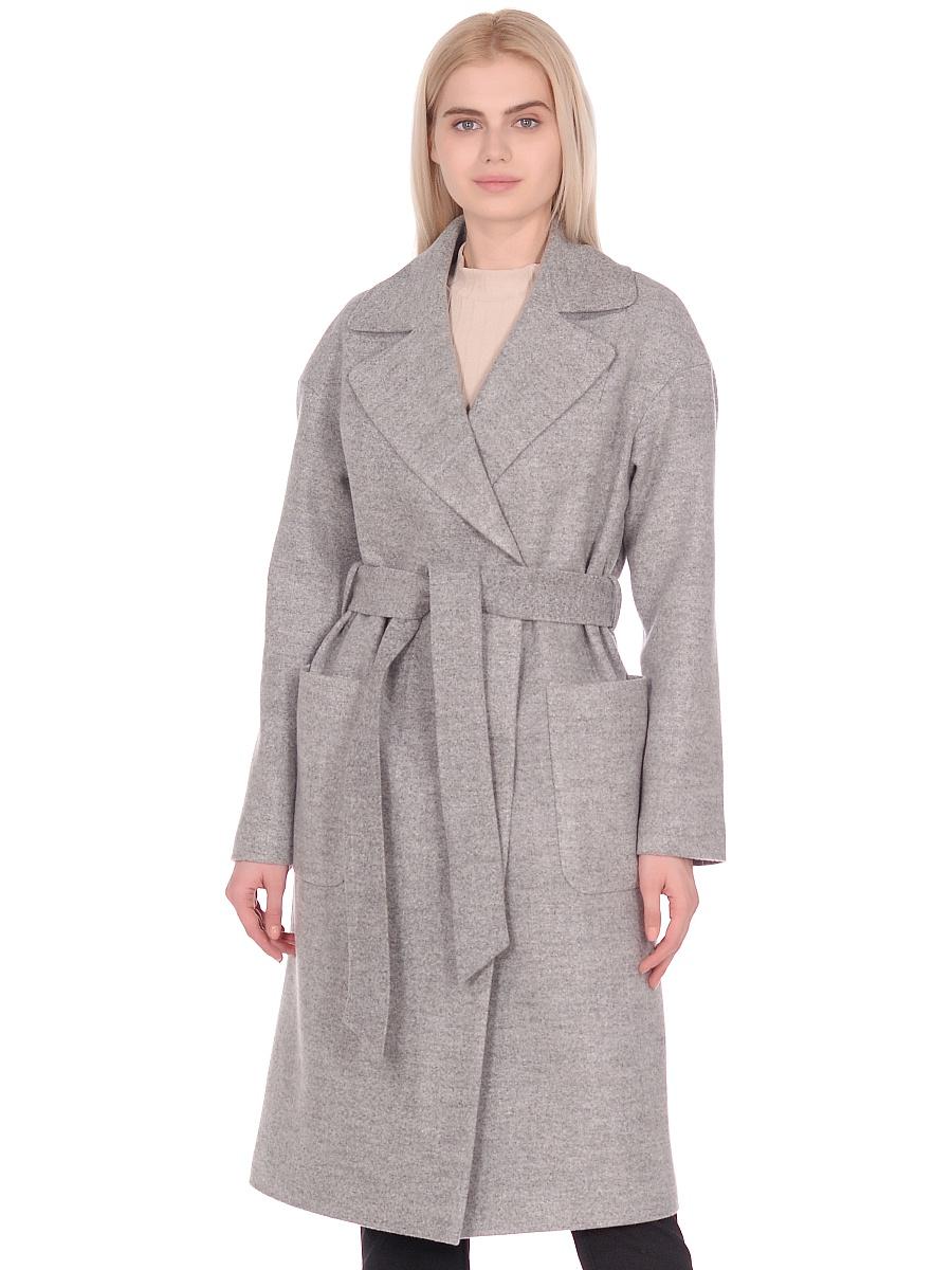 Женское демисезонное пальто hr-002 светло-серое фото-2