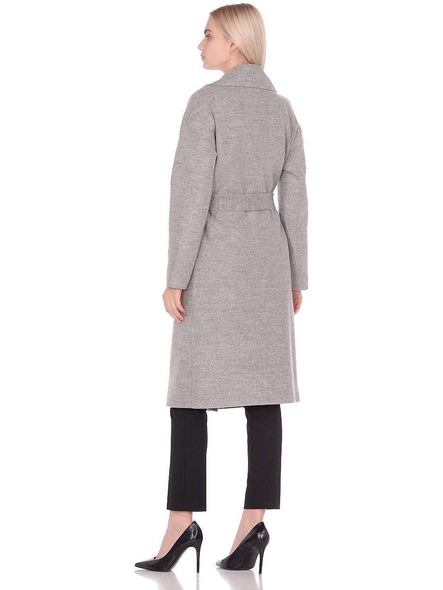 Женское демисезонное пальто hr-002 светло-серое фото-3