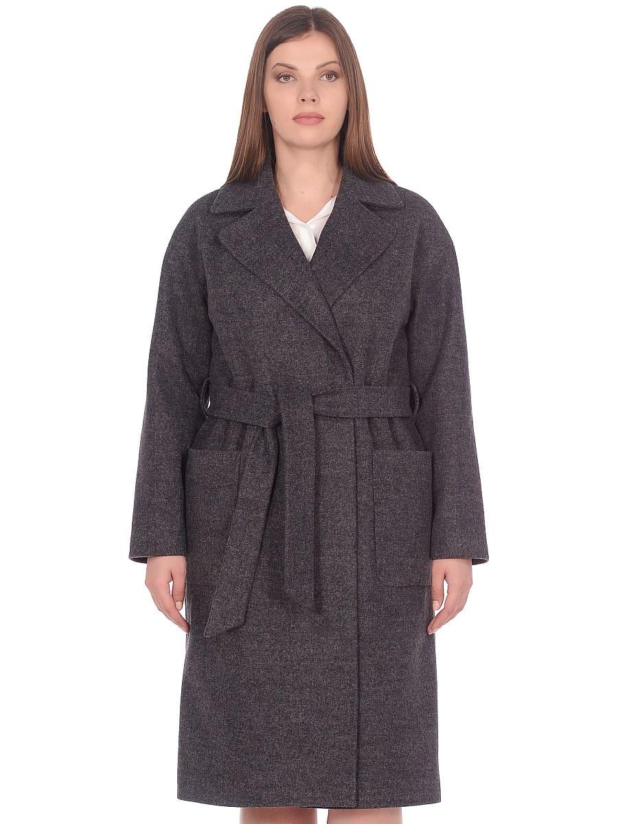 Женское демисезонное пальто hr-002 серое фото-2