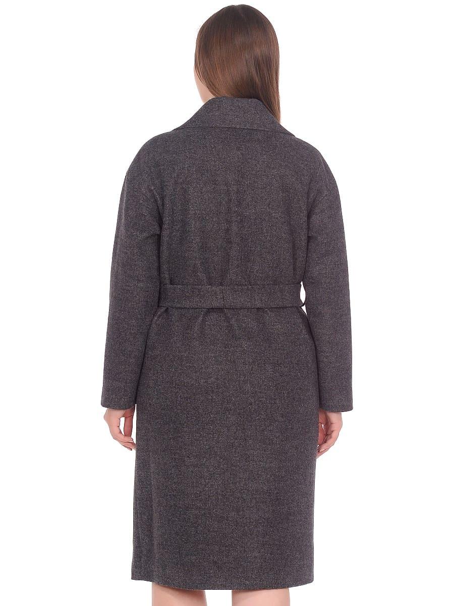 Женское демисезонное пальто hr-002 серое фото-3