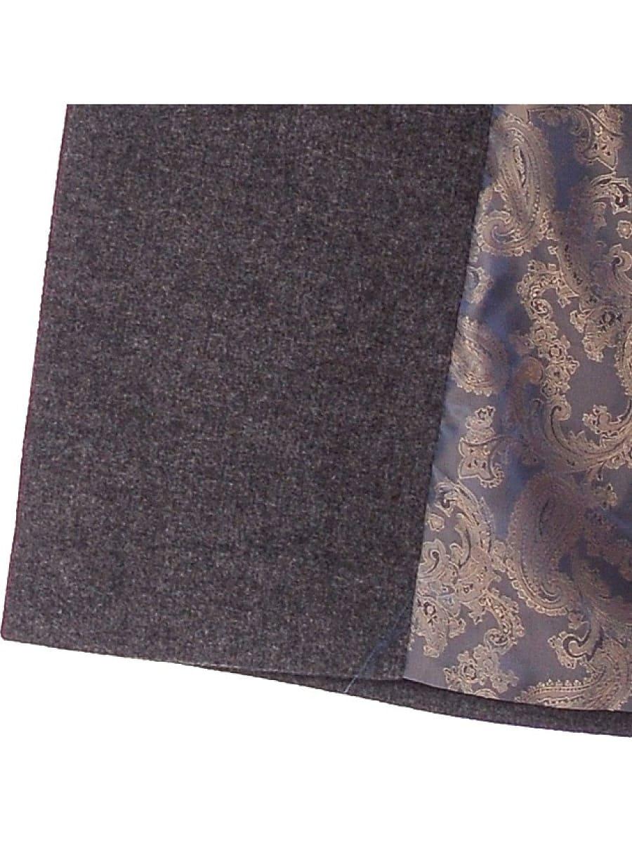 Женское демисезонное пальто hr-002 серое фото-4