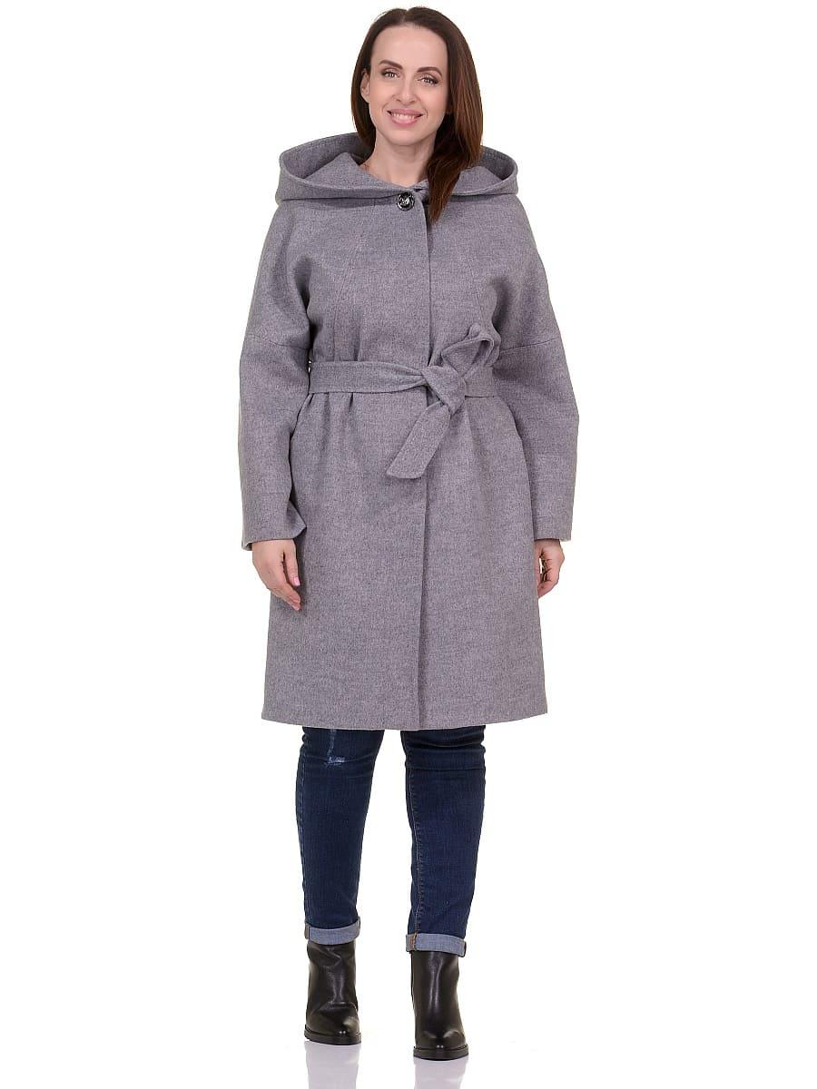 Женское демисезонное пальто hr-011 серое фото-1