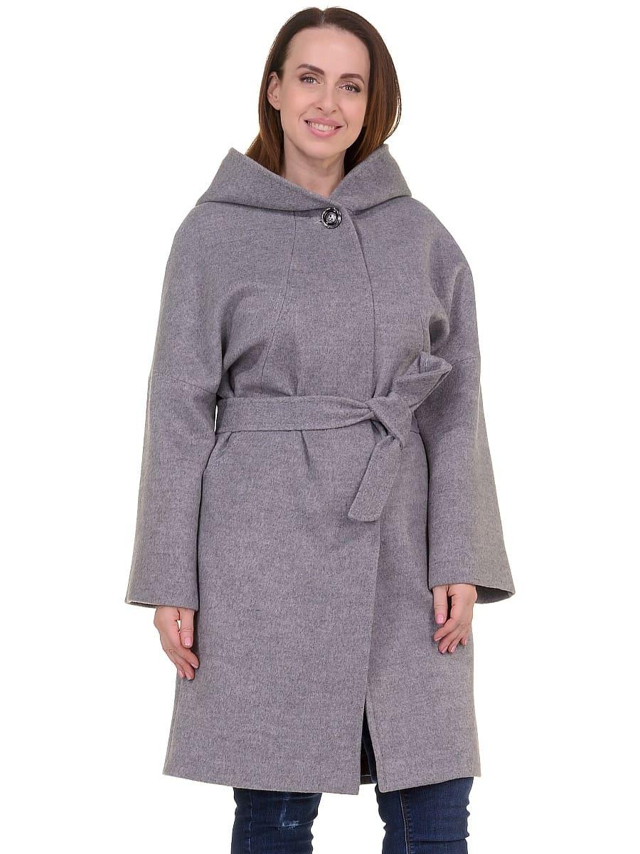 Женское демисезонное пальто hr-011 серое фото-2