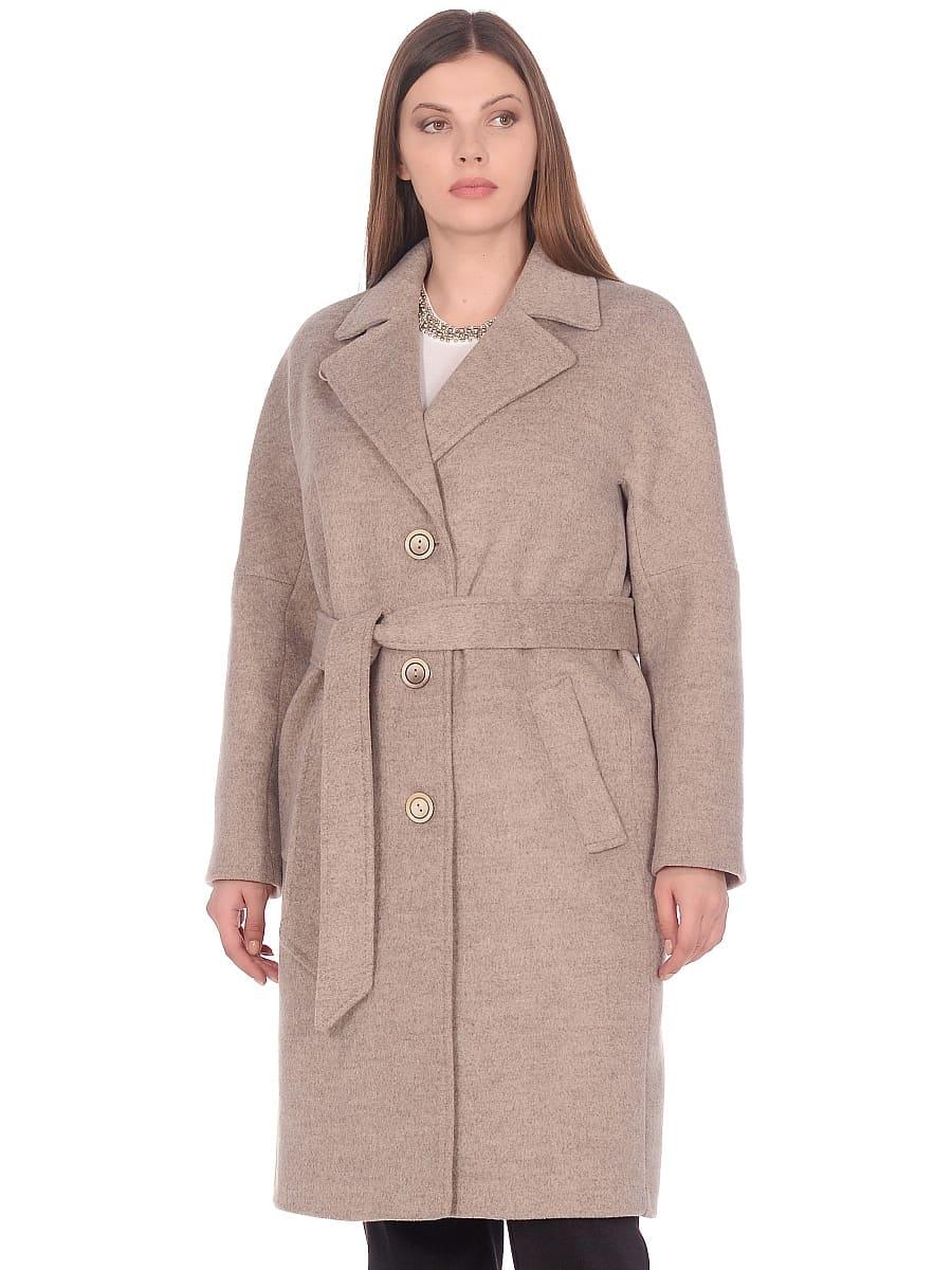 Женское демисезонное пальто hr-012 бежевое фото-2